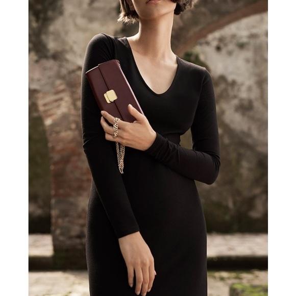 dad684f4a0 Cuyana Dresses   Skirts - Cuyana Pima Blend Classic V Neck Maxi Dress